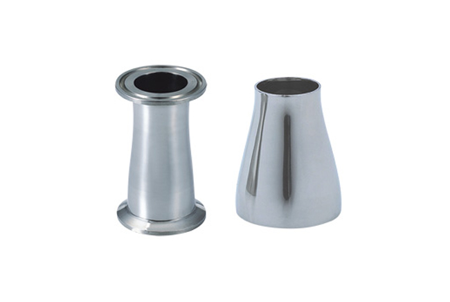 China sanitary reducer concentric pipe fittings