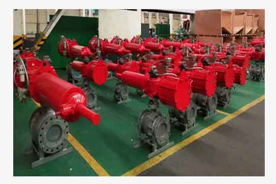 Electrical/Pneumatic actuator ball valve